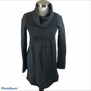 Old Navy Grey Lambs Wool Blend Sweater Dress XS